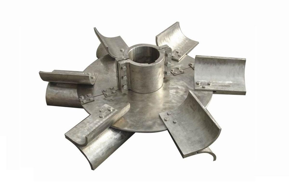 平直叶,斜叶,弯叶圆盘涡轮搅拌器图片